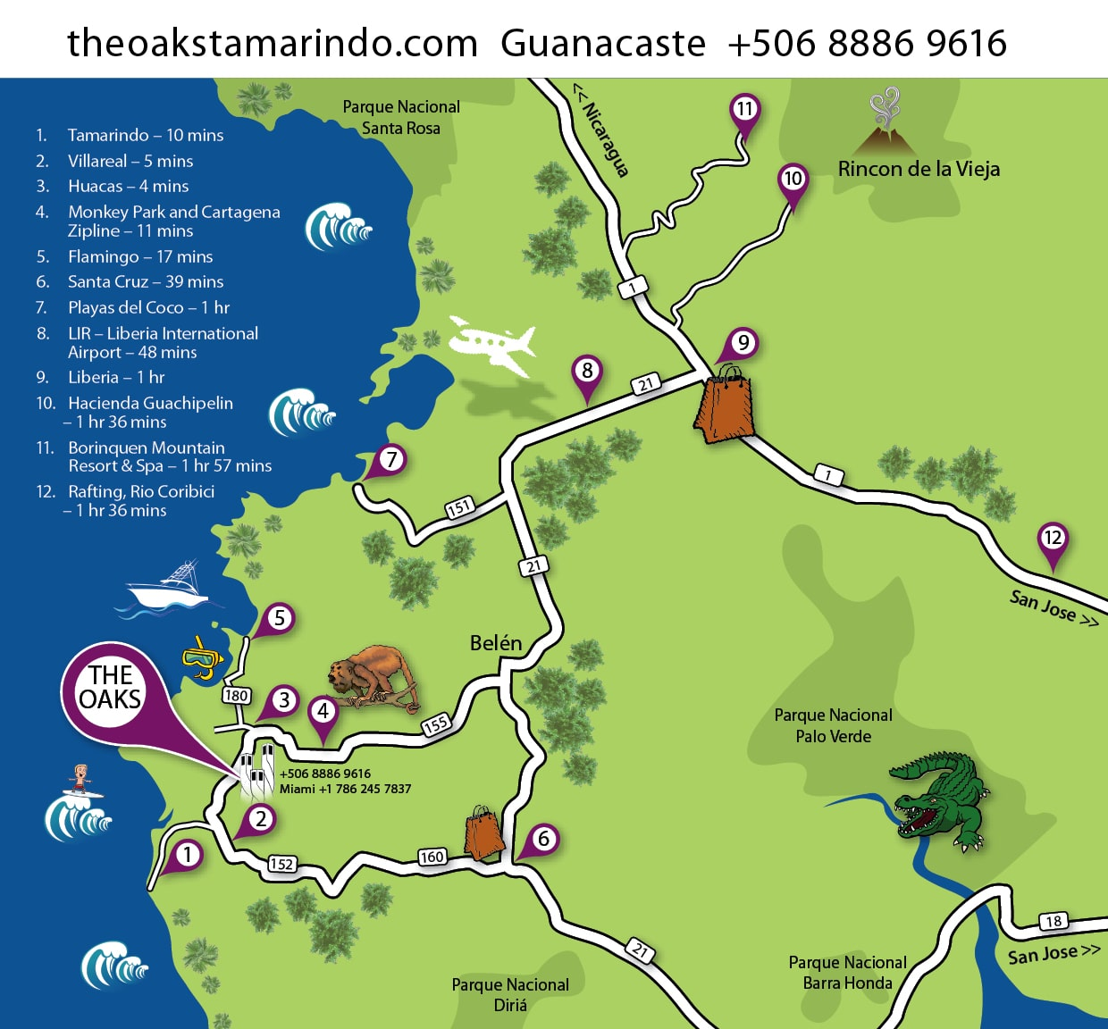 Tamarindo Beach Costa Rica Map The Best Beaches In World